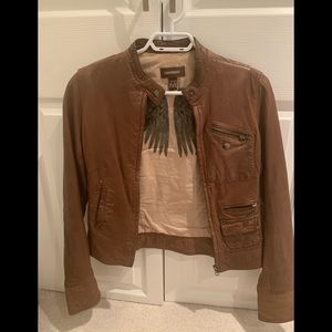 Preloved rustic style danier leather jacket